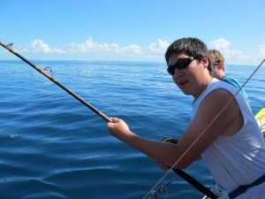 Reeling in the big one!
