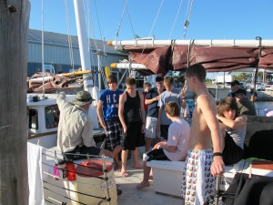 Briefing on dock for the midweek evening at dock.