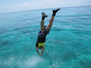 After snorkeling, an exhilarating dive!