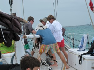 Dropping the headsail
