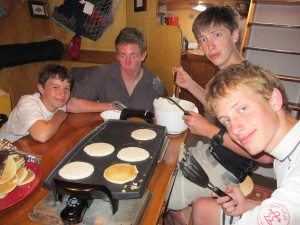 Would you trust your pancakes from this crowd?