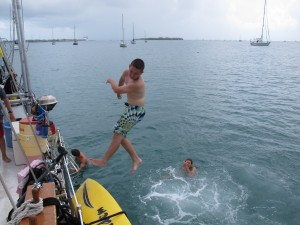 Ryan on the twist dive!