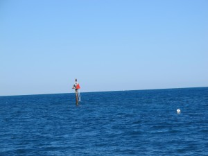 This is what the dive site looks like from the boat---Toppino's Buoy.