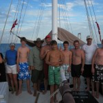 Happy crew on the foredeck!