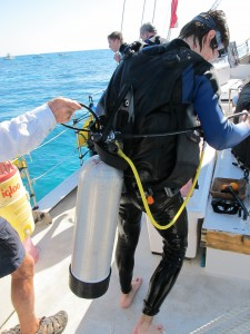 And if you don't fasten the strap properly, this is what happens to your tank during a dive.