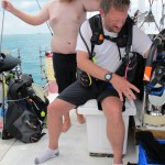 William assisting Phil pre dive
