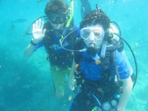 Underwater waves.