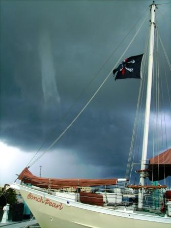 Amazing waterspout